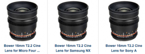 16mm rokinon samyang bower