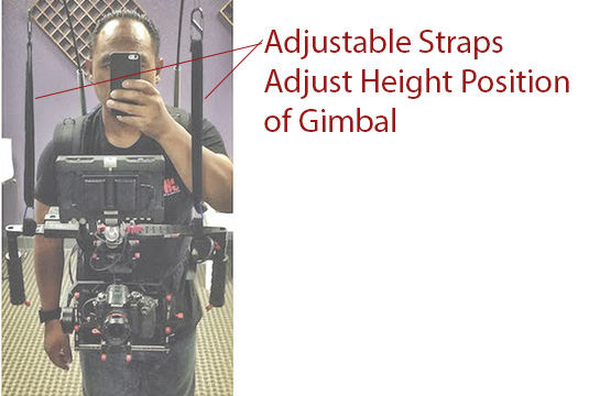 adjustable straps gimbal fiberglass rods