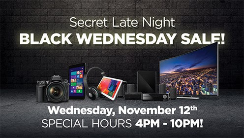 Adorama NYC Retail Store Black Wednesday Secret Sale Coupon