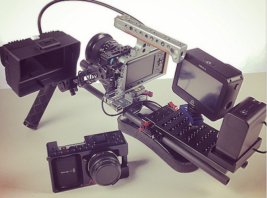 Blackmagic pocket cinema camera small rig tilta cage spectrahd evf