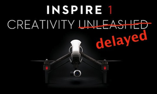 DJI Inspire1 4K Quadcopter Won't Ship As Expected