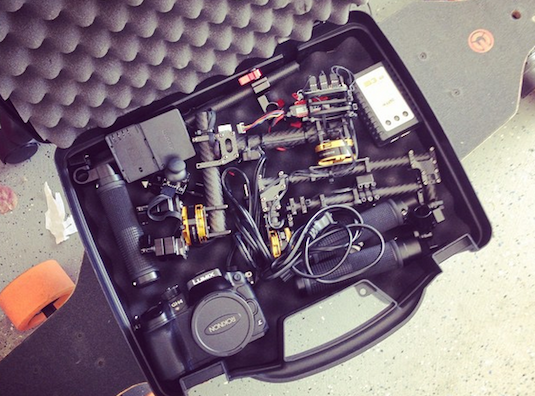 custom mini gimbal in hard case