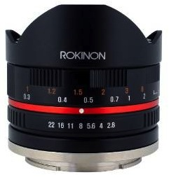 Amazon Lightning DEALS Rokinon 50mm T/2.5 Cine, 12mm F/2.0, and 7.5mm Fisheye Lens