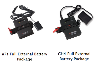 GH4 extended battery Sony A7s extended battery power external