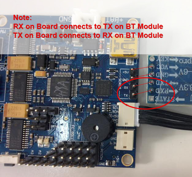 Connect Bluetooth Module Alexmos SBGC Gimbal Tiyaga CameTV Varavon