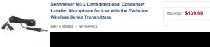 Sennheiser Wireless LAV Mic