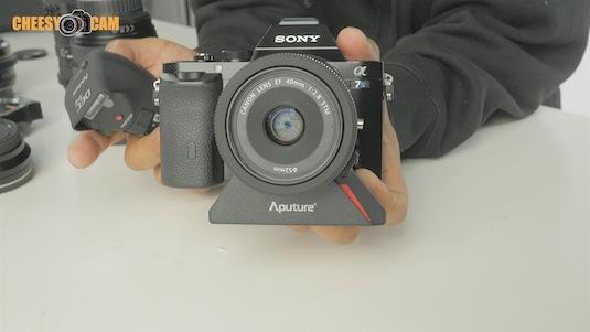 Canon 40mm STM Lens Aputure DEC