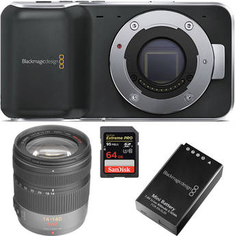 Crazy DEAL – BlackMagic Pocket Cinema Camera + Lens + Battery + SD Card