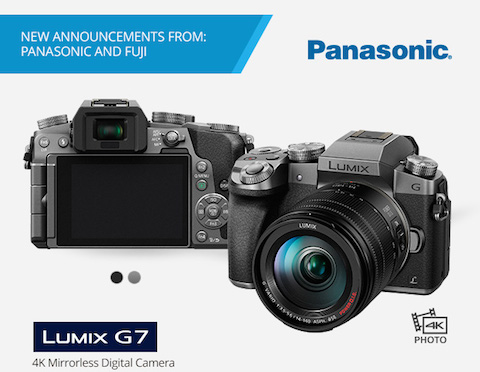 New Panasonic Lumix DMC-G7 4K Mirrorless MFT Digital Camera