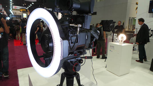 NAB 2015 F&V Introduces Huge LED Ring Light K4000 Upgrades 2×1 Panels