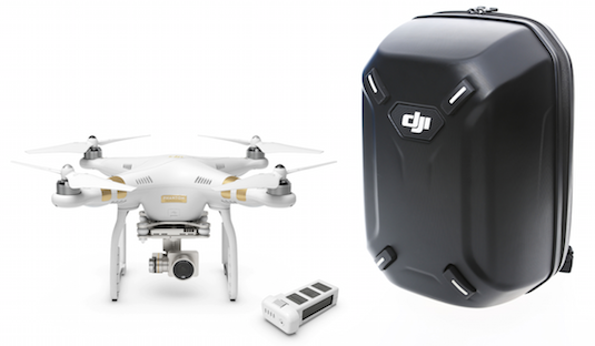 DJI Phantom 3 with Extra Battery and HardShell BackPack