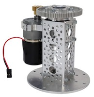 diy servo city pan kit motorized pan gear motor drive time lapse