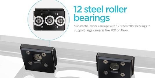 konova k-cine slider dolly 12 bearings