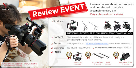 Varavon Product Video Review Event July 1st – July 30th
