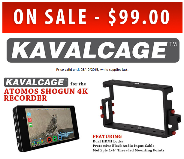 Final Weekend $99 Sale on PVGear Cage for Atomos Shogun 4K Monitor Recorder