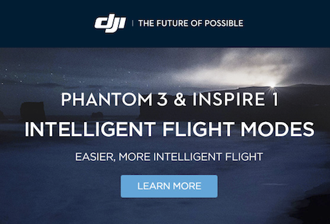 New DJI Phantom 3 and Inspire 1 Firmware Upgrades