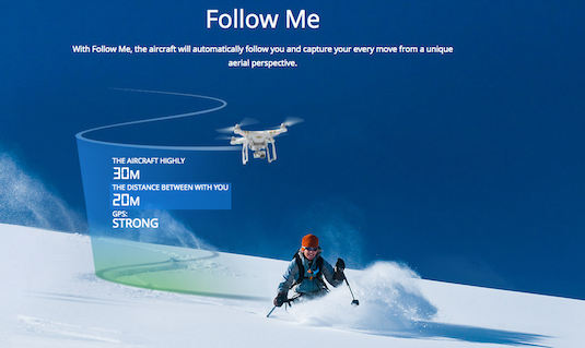 dji phantom follow me