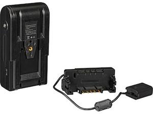 switronix pb-70 external battery sony a7s a7sii a7rii v-mount led light