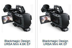 BlackMagic Design URSA Mini 4K 4.6K RAW 80 120 fps DVEStore