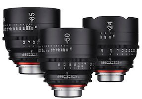 Rokinon XEEN 3 Lens Bundle Set