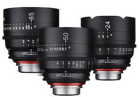 Rokinon XEEN 3 Lens Bundle Set