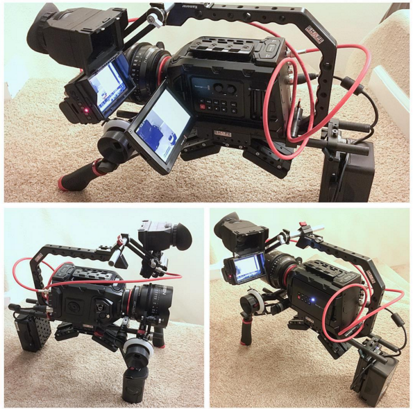 blackmagic design mini ursa 4k 4.6K cheesycam rig evf shoulder pad battery plate vmount top handle