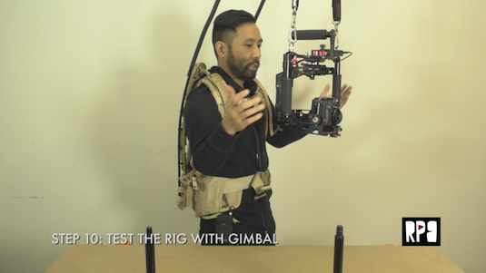 runplayback diy gimbal support backpack