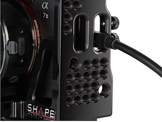 Shape-A7sII-A7rII-Cage-Rig-HDMI-locks-audio-cable