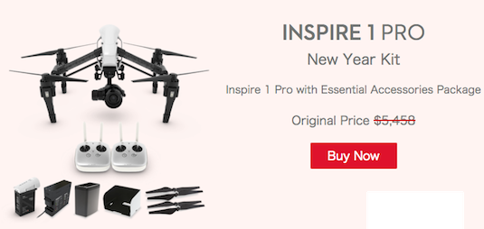 DJI Inspire1 Pro and Inspire quadcopter