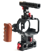 cametv came-tv blackmagic micro cinema camera cage rig top hand side handle rails