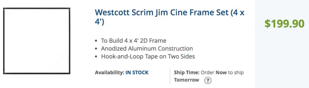 scrim jim wescott open frame