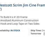 DIY Scrim Jim Cine Frame Open Gel Frame Flag Diffuser Bounce
