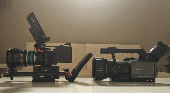 micro cinema camera size compared to panasonic dvx100a