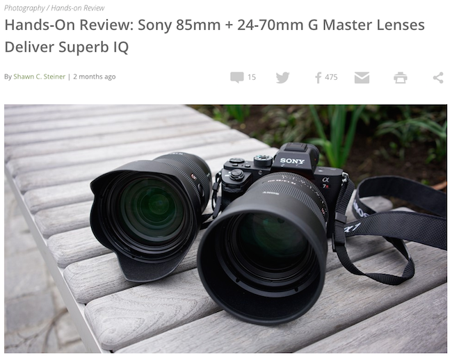 explora sony g master lenses hands on review