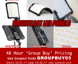 48 Hour Group Buy Pricing Kamerar Brightcast Flexible Bi-Color LED Panels