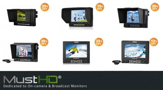MustHD Monitors 5 inch 7 inch hyperbrite