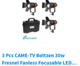 CAME-TV Boltzen LED 30w 55w 60w 100w 150w Fresnel Lighting