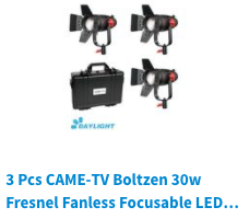 30w 55w boltzen led came-tv fresnel