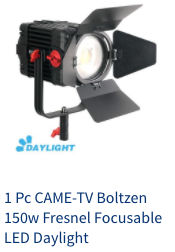 came-tv boltzen 150w led fresnel