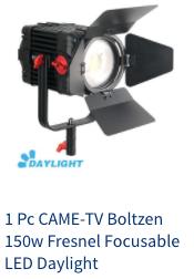 came-tv boltzen 150w led fresnel