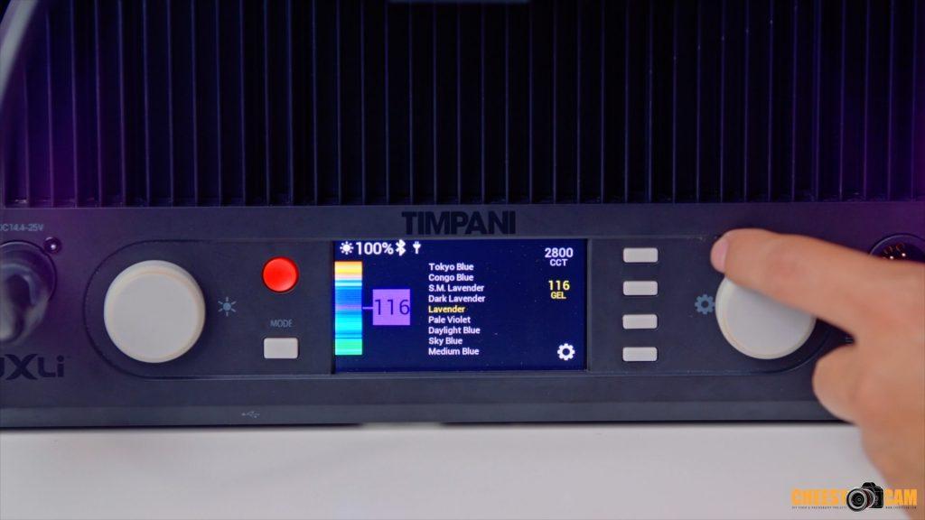 The Luxli Timpani is a Versatile 1x1 RGBAW LED Panel